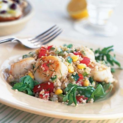 Lemon-Dill Bulgur Salad with Scallops