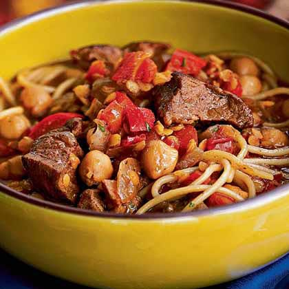 Harira RecipeHarira is a soup native to Morocco and Algeria. It is traditionally served during Ramadan to break the day's fast, but it also sometimes eaten after celebrations or feasts. With lamb, chickpeas, and angel hair pasta, this harira is hearty enough to be a stand-alone meal, especially on cold winter nights.