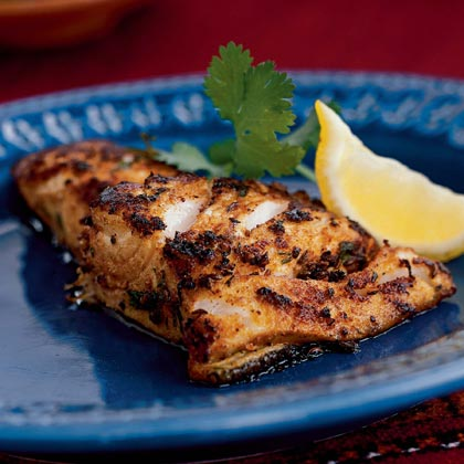 Sea Bass Crusted with Moroccan Spices Recipe