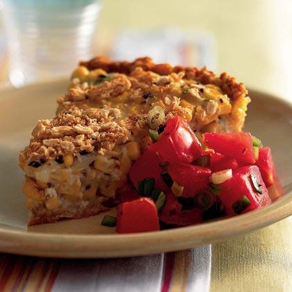 Buttercrust Corn Pie with Fresh Tomato Salsa
