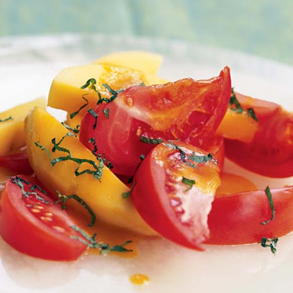 Tomato-and-Mango Salad with Curry-Orange Vinaigrette