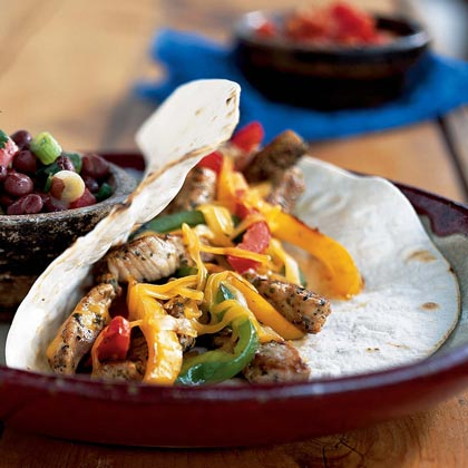 Spicy Pork-and-Bell Pepper Tacos Recipe