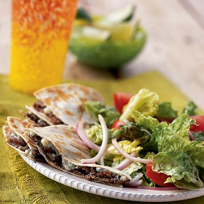 <p>Flank Steak-and-Blue Cheese Quesadilla Salad</p>
