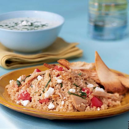 Couscous Salad with Chicken, Tomato, and Basil