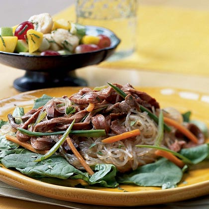 Asian Beef-Noodle Salad Recipe