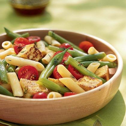 Penne, Crispy Tofu, and Green Bean SaladRecipe