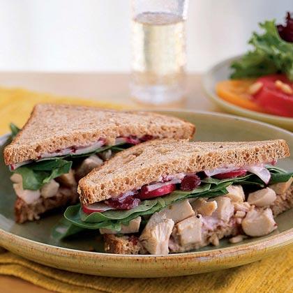 Roast Chicken and Cranberry SandwichesRecipe