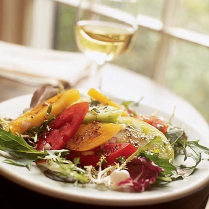 Kaleidoscope Tomato Salad With Balsamic-Olive Vinaigrette