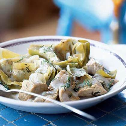 Veal-and-Artichoke Stew with Avgolemono Recipe