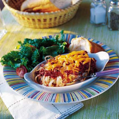 Baked Linguine with Meat Sauce