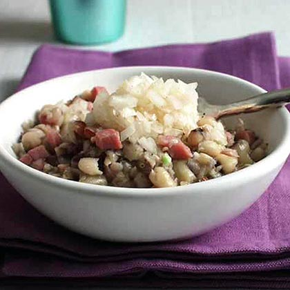 Black-Eyed Peas with Ham and Pickled Onions Recipe