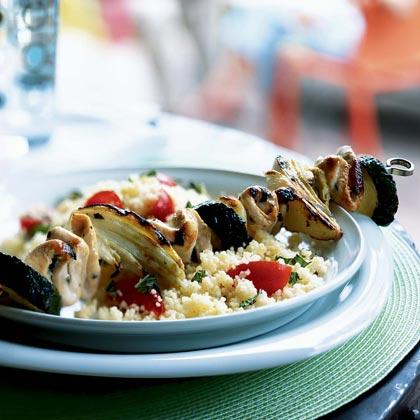 Mediterranean Chicken and Vegetable Kebabs Recipe