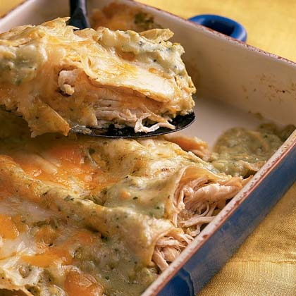Enchiladas de Pollo (Chicken Enchiladas)