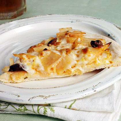 Olive-Potato Pizza
