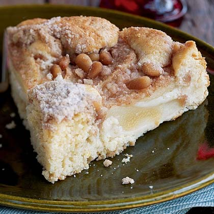Pear Cake with Pine Nuts Recipe