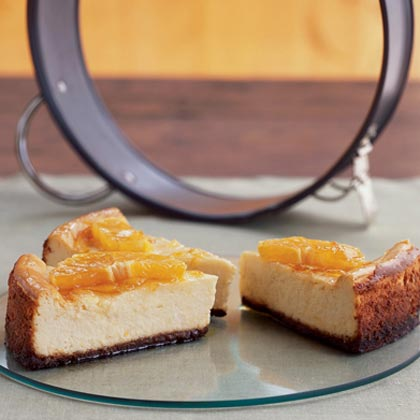 Orange-Glazed Cheesecake with Gingersnap CrustRecipe