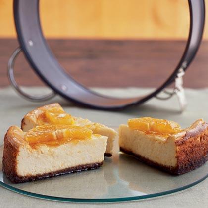 Orange-Glazed Cheesecake with Gingersnap Crust