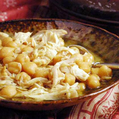 Ferakh bel Hummus (Chicken with Chickpeas)Recipe