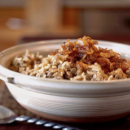 Megadarra (Brown Lentils and Rice with Caramelized Onions) Recipe