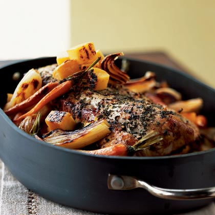 Roasted Pork and Autumn Vegetables Recipe