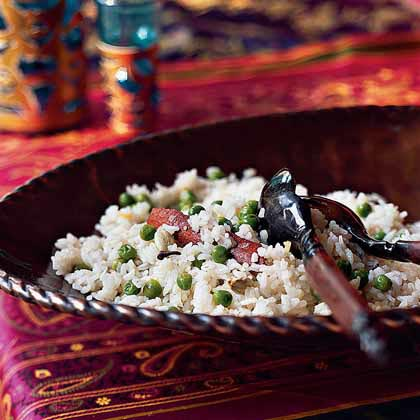 Spiced Basmati Pilaf with Garden Peas Recipe