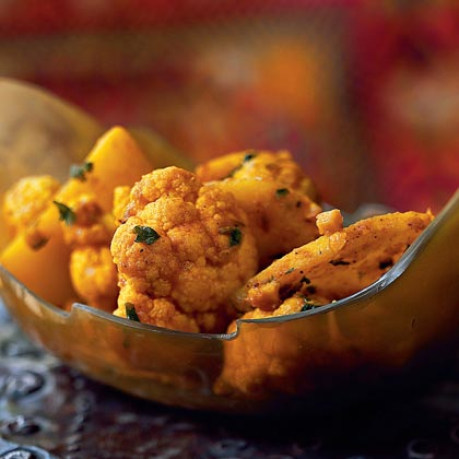 Cauliflower and Potato Sabzi with Spices