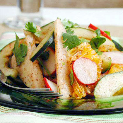 Rustic Jicama Appetizer with Red Chile and LimeRecipe