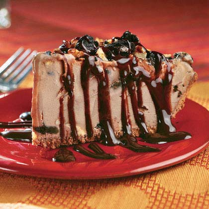 Mocha-Pecan Mud Pie RecipeRound out your meal with a slice of decadent mocha-pecan mud pie. This dessert is so rich, your guests will never know it was lightened.
