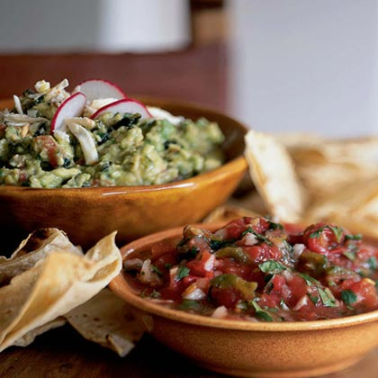 Salsa de Molcajete (Roasted Tomato and Green Chile Salsa)