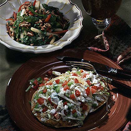 Pear Salad with Jicama and Snow Peas