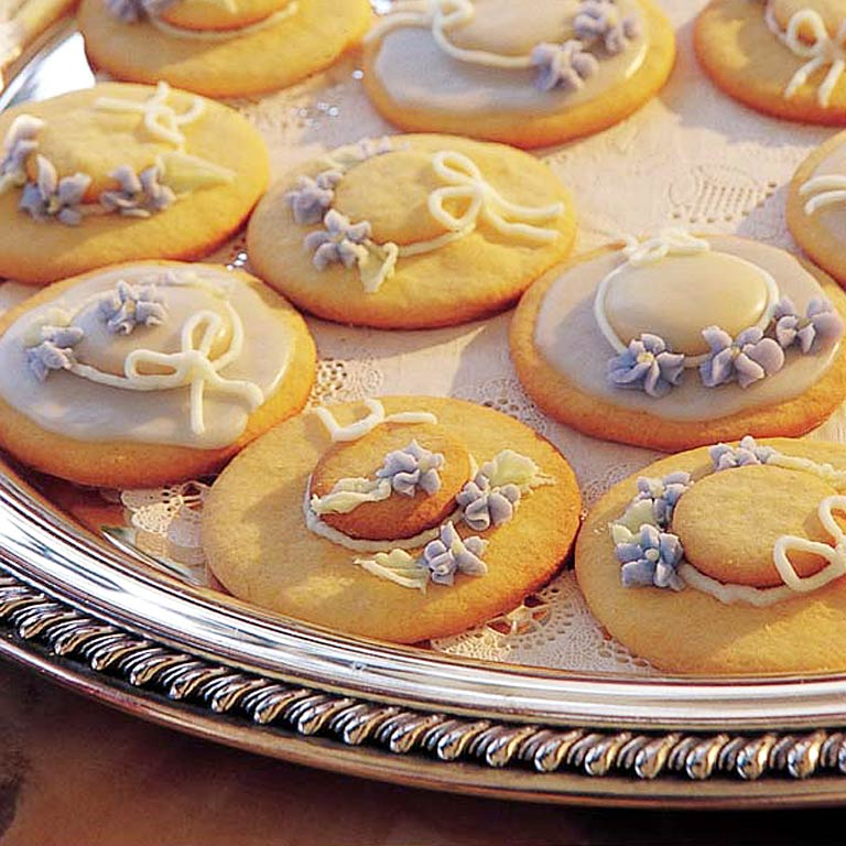 Hat Cookies RecipePay homage to the classic Derby dress code and bake these fashionable treats. Host a hat cookie decorating contest and give the winner a dozen pre-made cookies to take home.