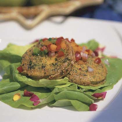 Kentucky Bibb Salad with Fried Green TomatoesRecipe