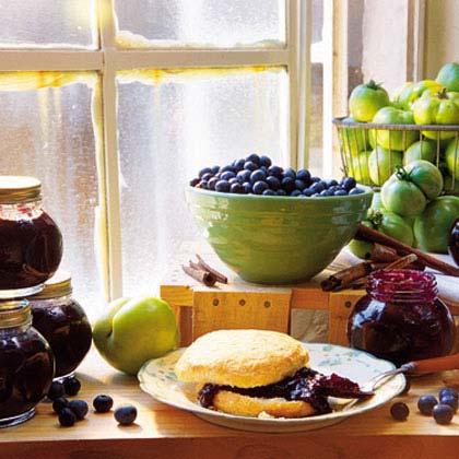 Green Tomato-Blueberry Jam