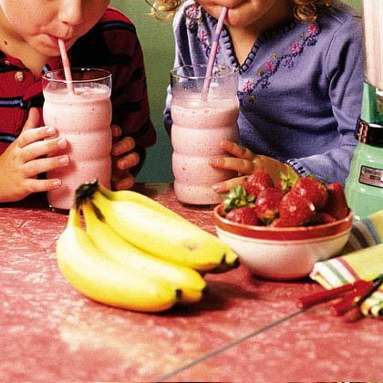 Double Strawberry-Banana Shake Recipe
