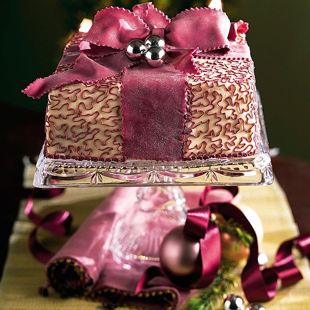 Chocolate-Vanilla Holiday Torte