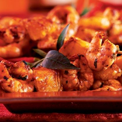Orange-Ginger Shrimp Skewers
