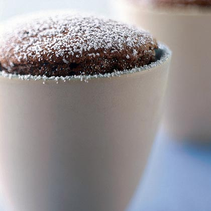 Bittersweet Chocolate Soufflés