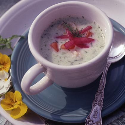Cool as a Cucumber Soup with ShrimpRecipe