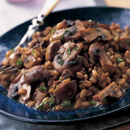 Barley Pilaf with Sautéed Mushrooms