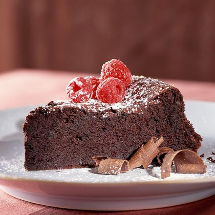 Dark-Chocolate Soufflé Cake