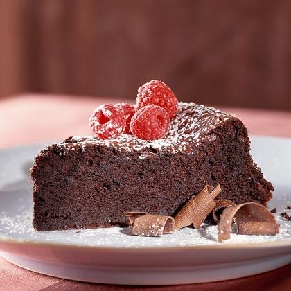 Dark-Chocolate Soufflé Cake