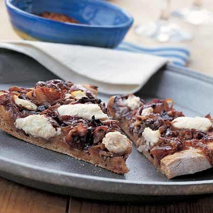 Pizza with Sauteéd Radicchio