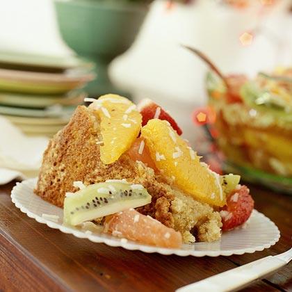 Rum Allspice Pound Cake With Ambrosia Recipe Myrecipes Com