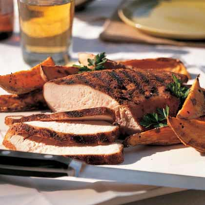 Texas Dry-Rub Slow-Grilled Turkey Breast