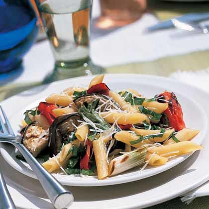 These grilled Italian vegetables are delicious over either pasta or on an appetizer platter with goat cheese and bread.Grilled Italian Vegetables with Pasta Recipe