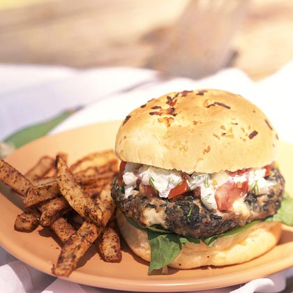 Greek Feta Burgers Recipe | MyRecipes