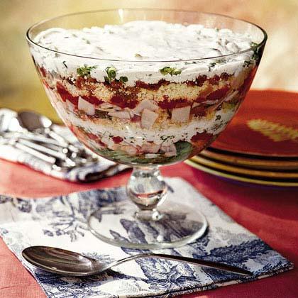 Layered Cornbread-and-Turkey SaladRecipe