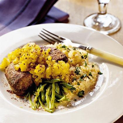Pork Chops with Warm Pineapple Salsa