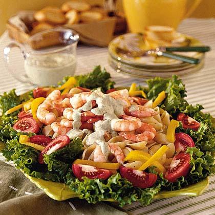 Shrimp Pasta Salad with Green Goddess Dressing