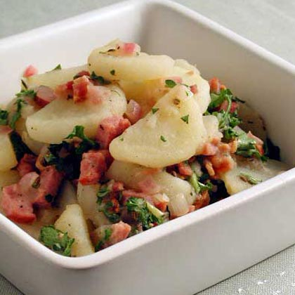Hot german potato salad recipe myrecipes hot german potato salad ccuart Choice Image